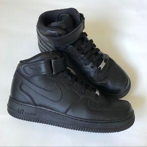 Nike Black AF1 High Top Sneakers Size Men's 8.5
